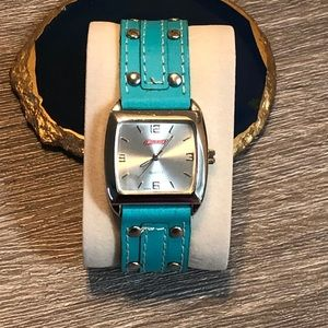 Genuine Leather Turquoise Band Watch